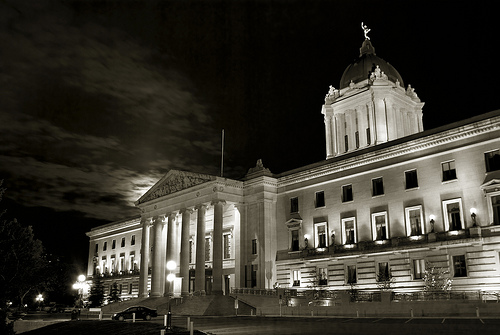 Legislative Building Under The Moon
