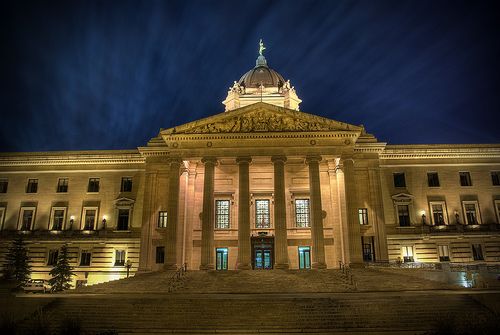 Legislative Building at Night