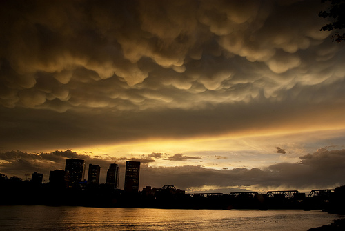 Mammatus Clouds Over Winnipeg