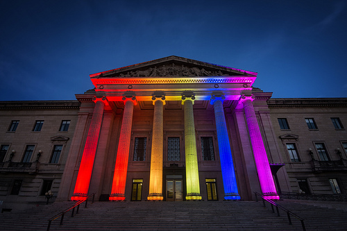 Legislative Building–Pride Winnipeg's 25th